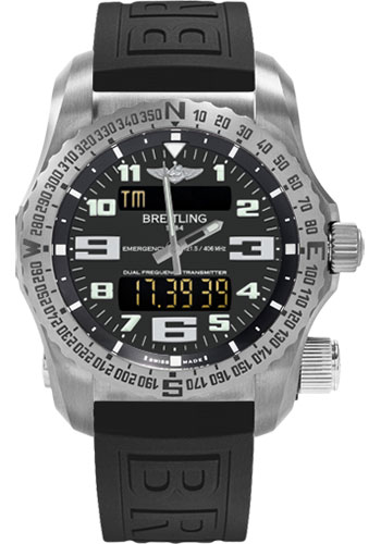 Breitling Watches - Emergency Titanium - Diver Pro III Strap - Style No: E7632522/BC02-diver-pro-iii-black-deployant