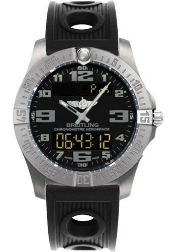 Breitling Watches - Aerospace Evo Ocean Racer Strap - Deployant Buckle - Style No: E7936310/BC27-ocean-racer-black-deployant
