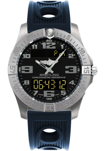 Breitling Watches - Aerospace Evo Ocean Racer Strap - Deployant Buckle - Style No: E7936310/BC27-ocean-racer-blue-deployant
