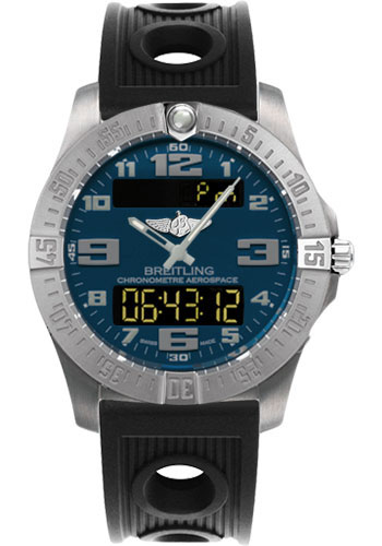 Breitling Watches - Aerospace Evo Ocean Racer Strap - Deployant Buckle - Style No: E7936310/C869-ocean-racer-black-deployant