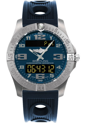 Breitling Watches - Aerospace Evo Ocean Racer Strap - Deployant Buckle - Style No: E7936310/C869-ocean-racer-blue-deployant