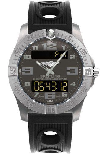 Breitling Watches - Aerospace Evo Ocean Racer Strap - Deployant Buckle - Style No: E7936310/F562-ocean-racer-black-deployant