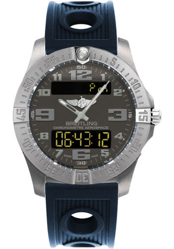 Breitling Watches - Aerospace Evo Ocean Racer Strap - Deployant Buckle - Style No: E7936310/F562-ocean-racer-blue-deployant