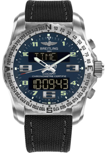 Breitling Watches - Cockpit B50 Titanium Case - Military Strap - Style No: EB501019/C904/100W/A20BASA.1