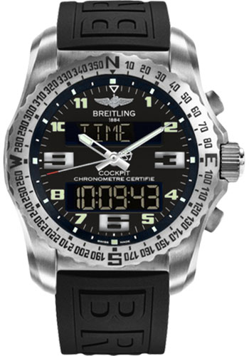 Breitling Watches - Cockpit B50 Titanium Case - Diver Pro III Strap - Style No: EB501022/BD40-diver-pro-iii-black-deployant