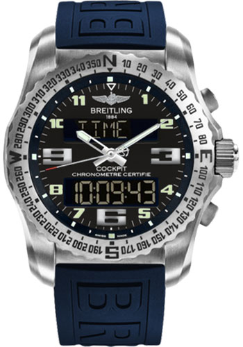 Breitling Watches - Cockpit B50 Titanium Case - Diver Pro III Strap - Style No: EB501022/BD40-diver-pro-iii-blue-deployant