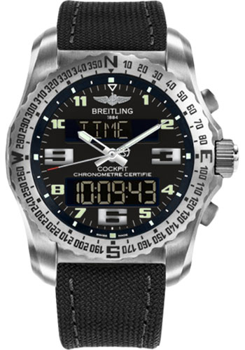 Breitling Watches - Cockpit B50 Titanium Case - Military Strap - Style No: EB501022/BD40-military-anthracite-tang