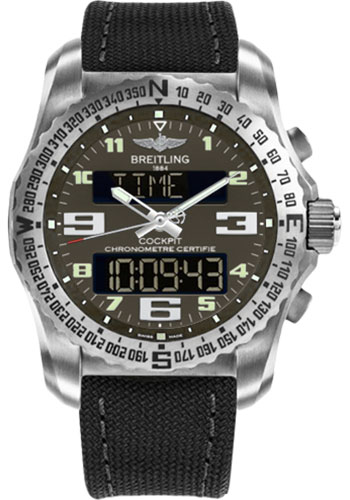 Breitling Watches - Cockpit B50 Titanium Case - Military Strap - Style No: EB5010B1/M532-military-anthracite-tang