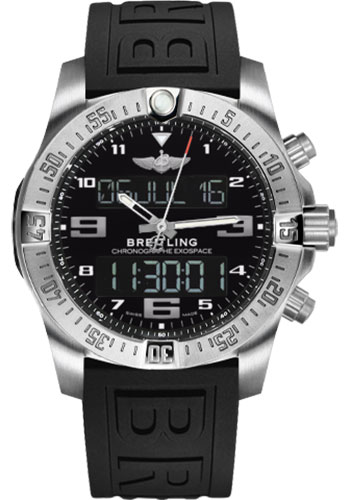 Breitling Watches - Exospace B55 Titanium - Twin Pro Strap - Style No: EB5510H1/BE79-twinpro-anthracite-black-pushbutton-folding