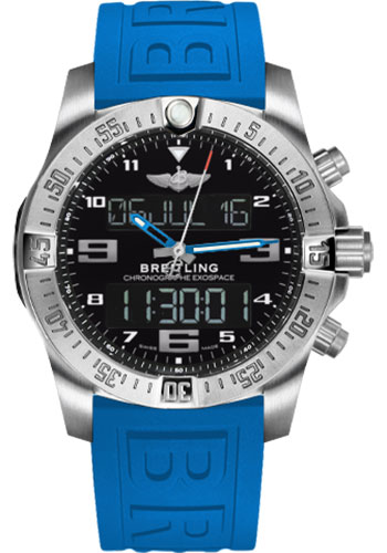 Breitling Watches - Exospace B55 Titanium - Twin Pro Strap - Style No: EB5510H2/BE79-twinpro-blue-black-pushbutton-folding