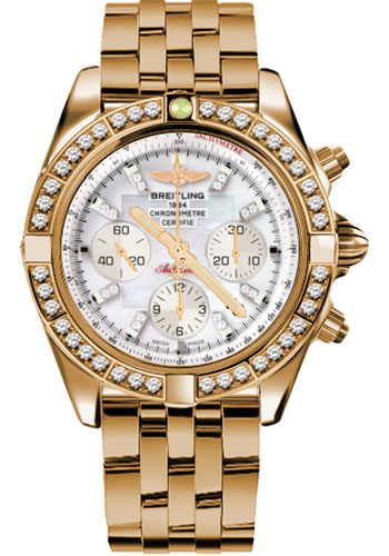 Breitling Watches - Chronomat 44 Rose Gold Dia Bezel - Pilot Bracelet - Style No: HB011059/A698-pilot-rose-gold