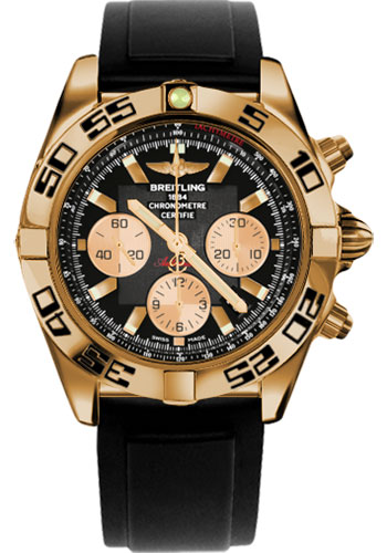 Breitling Watches - Chronomat 44 Rose Gold Black Numbered Bezel - Rubber Strap - Deployant - Style No: HB0110C1/B968-diver-pro-ii-black-folding