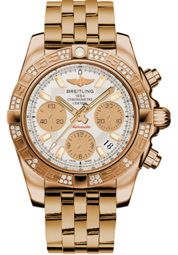 Breitling Watches - Chronomat 41 Rose Gold Diamond Bezel - Pilot Bracelet - Style No: HB0140AA/G713-pilot-rose-gold