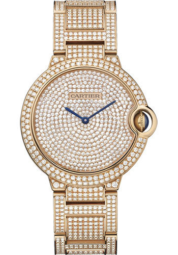 Cartier Watches - Ballon Bleu Pink Gold With Diamonds - Style No: HPI00489