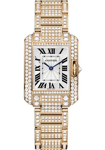 Cartier Watches - Tank Anglaise Pink Gold With Diamonds - Style No: HPI00558