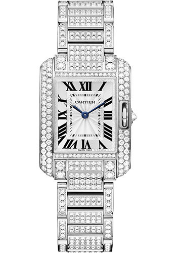 Cartier Watches - Tank Anglaise White Gold With Diamonds - Style No: HPI00559