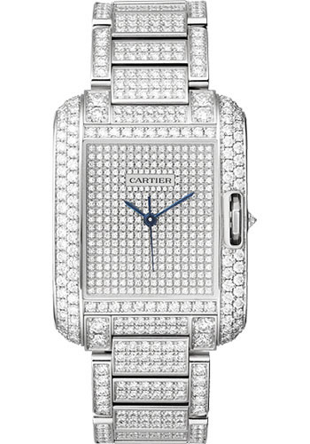 Cartier Watches - Tank Anglaise White Gold With Diamonds - Style No: HPI00561