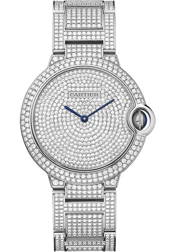 Cartier Watches - Ballon Bleu 36mm - White Gold - Style No: HPI00581