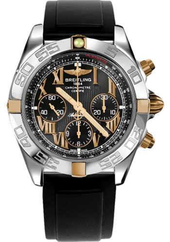 Breitling Watches - Chronomat 44 Two-Tone Polished Bezel - Diver Pro II Strap - Tang - Style No: IB011012/B957-diver-pro-ii-black-tang