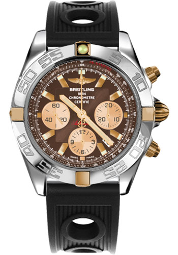 Breitling Watches - Chronomat 44 Two-Tone Polished Bezel - Ocean Racer Strap - Deployant - Style No: IB011012/Q576-ocean-racer-black-deployant