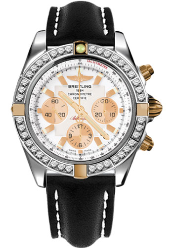 Breitling Watches - Chronomat 44 Two-Tone 40 Dia Bezel - Leather Strap - Tang - Style No: IB011053/A696-leather-black-tang