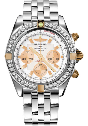 Breitling Watches - Chronomat 44 Two-Tone 40 Dia Bezel - Pilot Steel Bracelet - Style No: IB011053/A696-pilot-steel