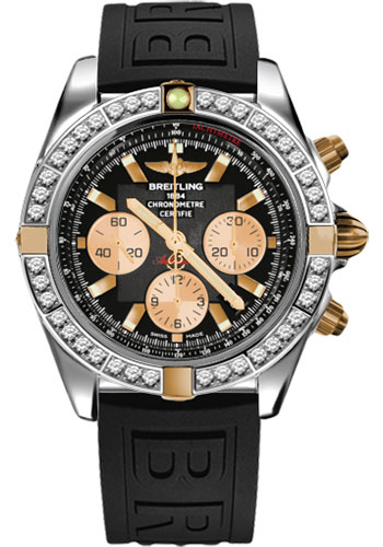 Breitling Watches - Chronomat 44 Two-Tone 40 Dia Bezel - Diver Pro III Strap - Deployant - Style No: IB011053/B968-diver-pro-iii-black-deployant