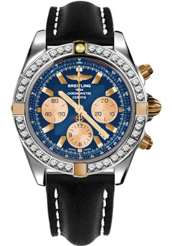 Breitling Watches - Chronomat 44 Two-Tone 40 Dia Bezel - Leather Strap - Tang - Style No: IB011053/C790-leather-black-tang