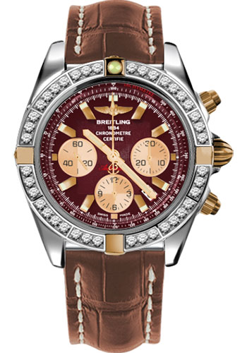 Breitling Watches - Chronomat 44 Two-Tone 40 Dia Bezel - Croco Strap - Deployant - Style No: IB011053/K524-croco-gold-deployant