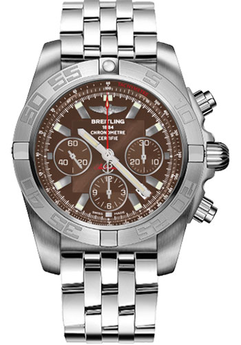 Breitling Watches - Chronomat 44 White Gold Satin Finish - Pilot Bracelet - Style No: JB011010/Q587-pilot-white-gold-satin