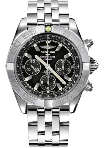 Breitling Watches - Chronomat 44 White Gold Polished Bezel - Pilot Bracelet - Style No: JB011011/B972-pilot-white-gold