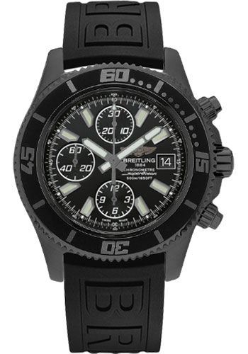 Breitling Watches - Superocean Chronograph II Black Steel Limited Edition - Style No: M13341B7/BD11-diver-pro-iii-black-folding