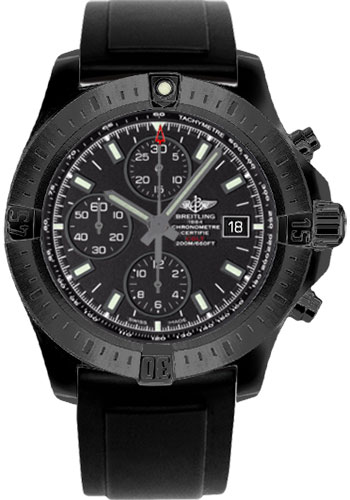 Breitling Watches - Colt Chronograph Automatic Black Steel - Diver Pro II Strap - Style No: M1338810/BF01-diver-pro-ii-black-deployant