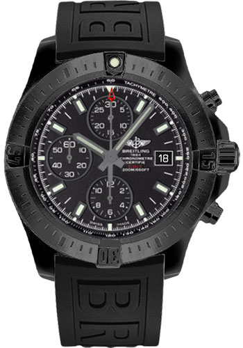 Breitling Watches - Colt Chronograph Automatic Black Steel - Diver Pro III Strap - Style No: M1338810/BF01-diver-pro-iii-black-deployant