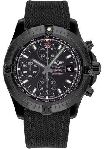 Breitling Watches - Colt Chronograph Automatic Black Steel - Military Strap - Style No: M1338810/BF01-military-anthracite-tang