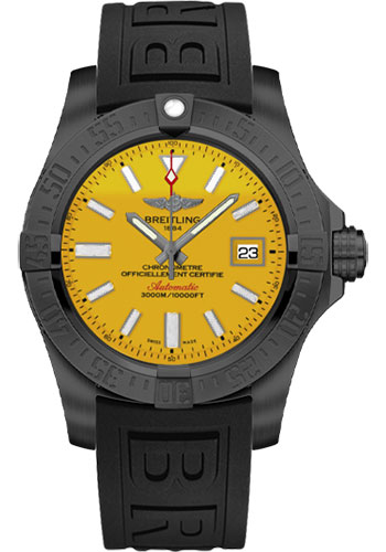 Breitling Watches - Avenger II Seawolf Black Steel Limited Edition - Style No: M17331E2/I530-diver-pro-iii-black-deployant