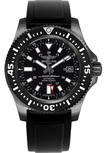 Breitling Watches - Superocean 44 Special Black Steel - Diver Pro II Strap - Style No: M1739313/BE92/131S/M20SS.1