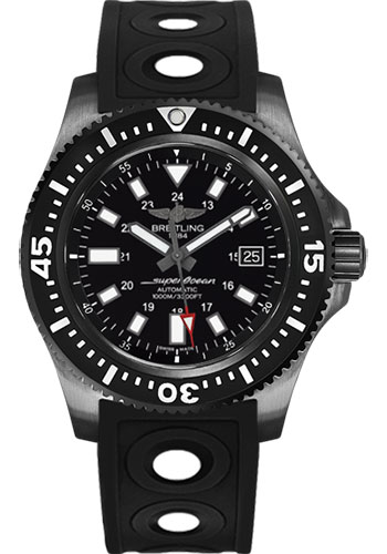 Breitling Watches - Superocean 44 Special Black Steel - Ocean Racer II Strap - Style No: M1739313/BE92/227S/M20SS.1