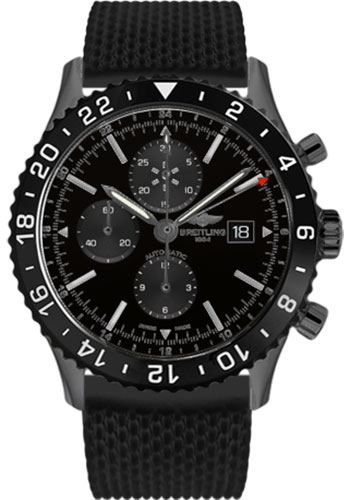 Breitling Watches - Chronoliner Black Steel - Style No: M2431013/BF02-aero-classic-rubber-black-deployant