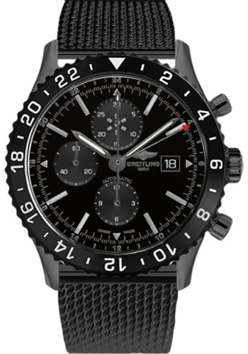 Breitling Watches - Chronoliner Black Steel - Style No: M2431013/BF02-ocean-classic-black-steel