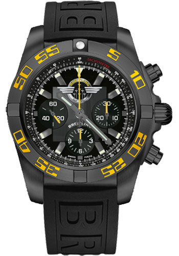 Breitling Watches - Chronomat 44 Black Steel Jet Team USA - Style No: MB01109P/BD48-diver-pro-iii-black-folding