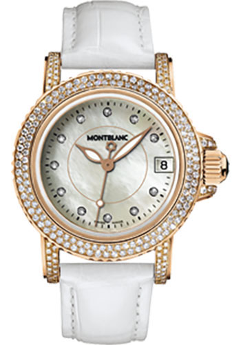 Montblanc Watches - Sport Lady Red Gold Diamonds - Style No: 104711