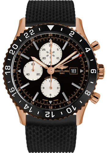 Breitling Watches - Chronoliner Red Gold - Style No: R2431212/BE83-aero-classic-rubber-black-deployant