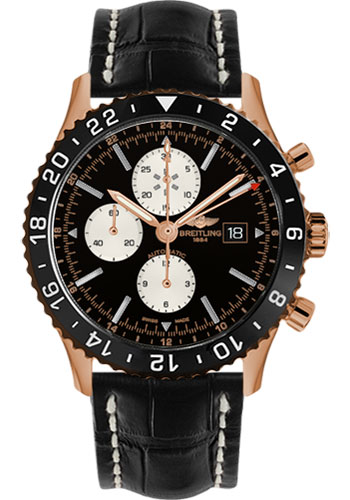 Breitling Watches - Chronoliner Red Gold - Style No: R2431212/BE83-croco-black-deployant