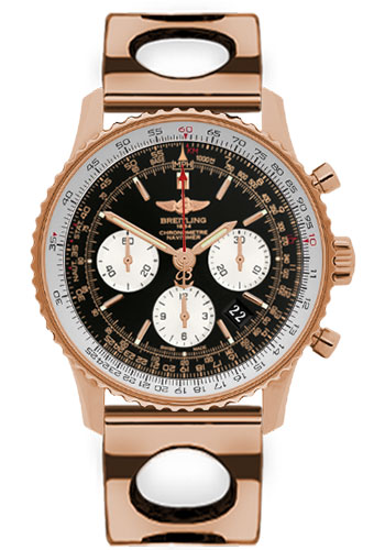 Breitling Watches - Navitimer 01 43mm - Red Gold - Air Racer Bracelet - Style No: RB012012/BA49-air-racer-red-gold