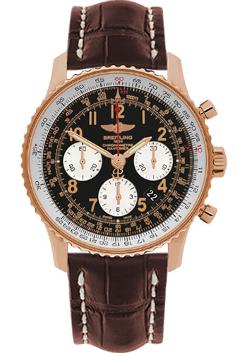Breitling Watches - Navitimer 01 43mm - Red Gold - Croco Strap - Tang - Style No: RB012012/BB07-croco-brown-tang