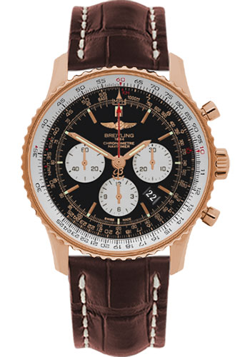 Breitling Watches - Navitimer 01 46mm - Red Gold - Croco Strap - Deployant - Style No: RB012721/BD10-croco-brown-deployant