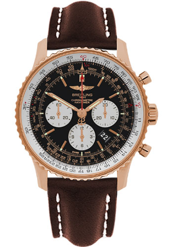 Breitling Watches - Navitimer 01 46mm - Red Gold - Leather Strap - Tang - Style No: RB012721/BD10-leather-brown-tang