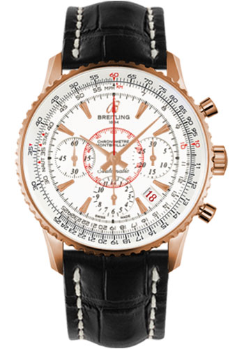 Breitling Watches - Montbrillant 01 Red Gold Limited Edition - Style No: RB013112/G710-croco-black-deployant