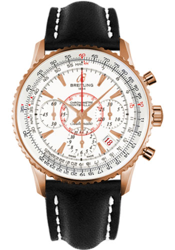 Breitling Watches - Montbrillant 01 Red Gold Limited Edition - Style No: RB013112/G710-leather-black-deployant
